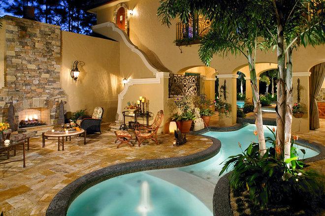 Mediterranean Pool by Jones Clayton Construction