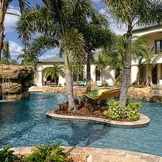 Tropical Pool by Jones Clayton Construction