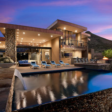 Contemporary Pool by Platinum Homes