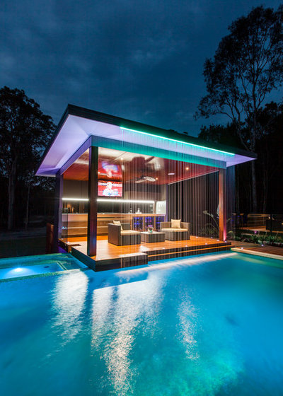 Contemporary Pool by Darren James Interiors