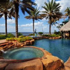 Tropical Pool by Luxury Home Solutions