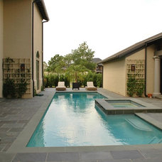 Contemporary Pool by Anderson Homes