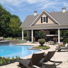 Traditional Pool by Sal's Nursery & Landscaping Inc