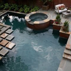 modern pool by TG&R Landscape Group