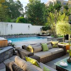 Mediterranean Pool by Anthony Wilder Design/Build, Inc.