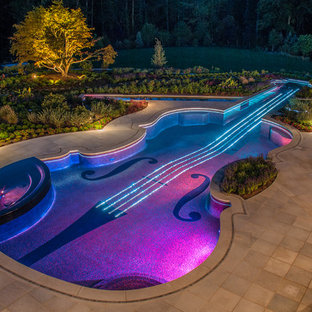 Outdoor Pool & Landscape Lighting By NJ Landscape Architecture Office