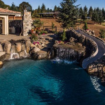 Outdoor Pool   Portland Street of Dreams   Ronda Divers Interiors