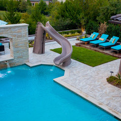 mediterranean pool by Scarlett Custom Homes