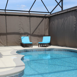 Inspiration for a modern pool remodel in Orlando