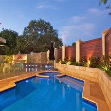 Contemporary Pool by Living Environs