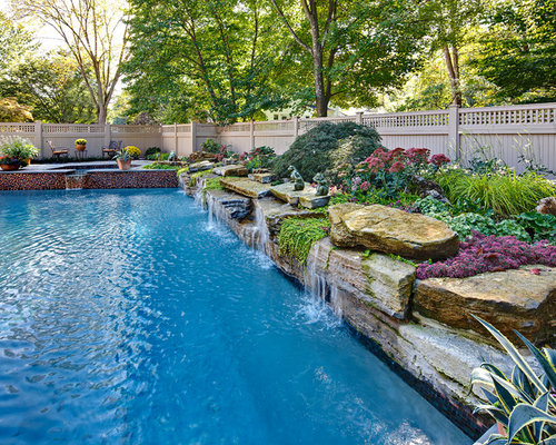 elegant rectangular natural pool photo in new york