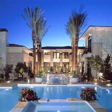 Mediterranean Pool by Christopher Homes