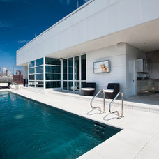 Modern Pool by Jay Greene Photography