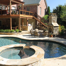 Traditional Pool by Outside Landscape Group