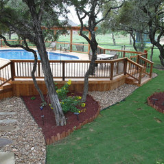 Oval Above Ground Pool With Deck