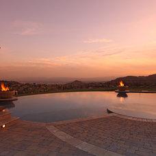 Mediterranean Pool by Green Scene Landscaping & Pools