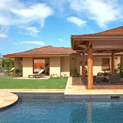 tropical pool by Ownby Design