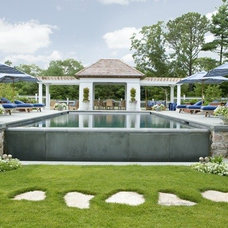 Traditional Pool by Catalano Architects