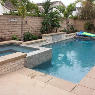 Diseño de piscinas y jacuzzis contemporáneos pequeños