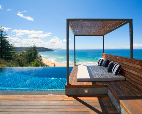 infinity pool beach house. Small Trendy Infinity Pool Photo In Sydney With Decking Beach House