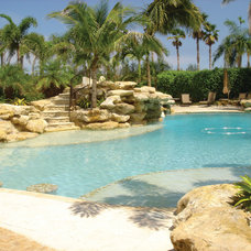 Tropical Pool by Larry's Cap Rock & Stone