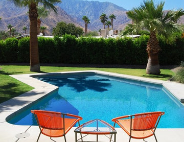 Palm Springs Mid-Century Modern Pool and Mountain View