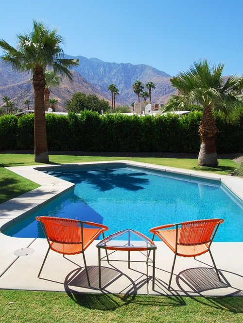 Mid century modern pool home design ideas pictures for Pool design houzz