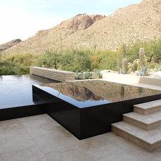 Contemporary Pool by Cimarron Circle Construction Company