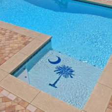 tropical pool by Art Mosaics of the Carolinas, LLC