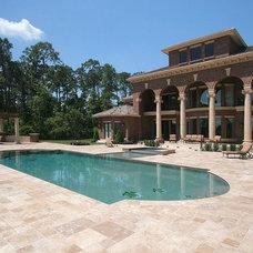 Traditional Pool by Victoria Martoccia Custom Construction, Inc