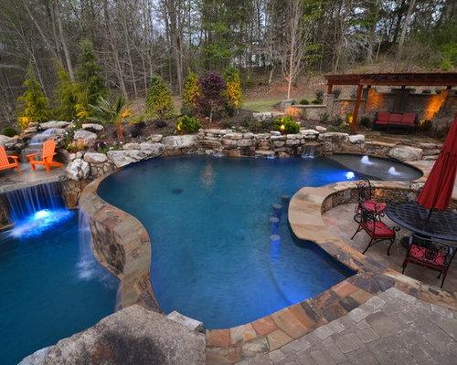 Luxury Rustic Swimming Pool Design Ideas Renovations Photos