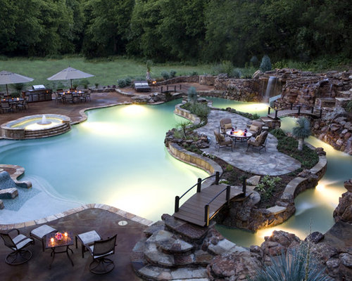 Lazy River Swimming Pool Designs master pools guild residential pools and spas natural gallery backyard lazy riverlazy Tropical Pool Idea In Other