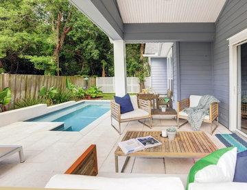 Paradise Preserve | Atlantic Beach Contemporary Backyard