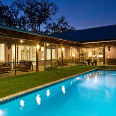 Contemporary Pool by josh wynne construction