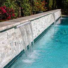 Contemporary Pool by josh wynne construction