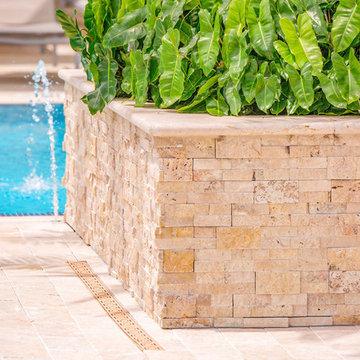 Pearl Marble Pavers Pool Deck