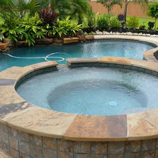 Contemporary Pool by Ocean Blue Pools