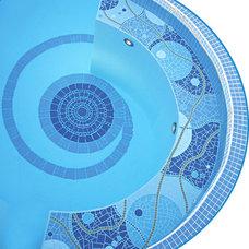 Contemporary Pool by Patrizia Mosaic Artist
