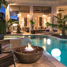 Contemporary Pool by Barbara Rooch Interior Environments, Inc.