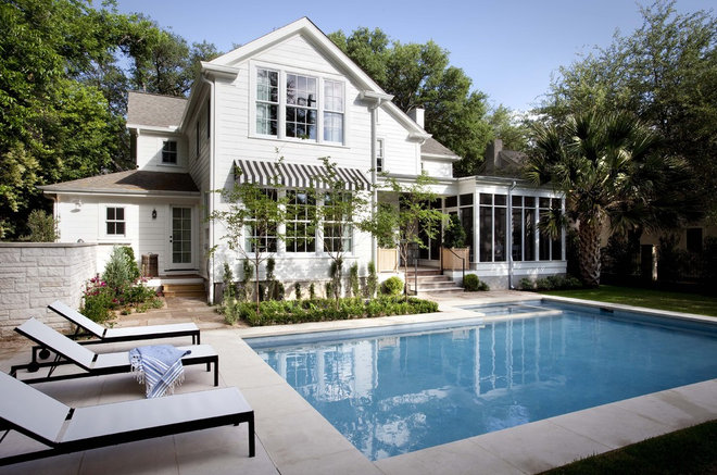 Traditional Pool by Tim Cuppett Architects
