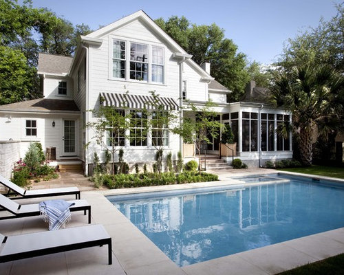 Pool hinter dem haus mit stempelbeton ideen swimming for Pool design houzz