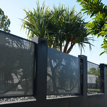 Perforated Pool Fence
