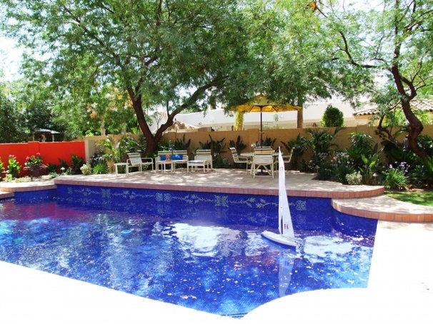 Eclectic Pool by clemente design studio, llc