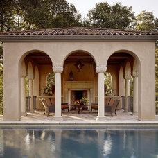 Mediterranean Pool by Charlie Barnett Associates