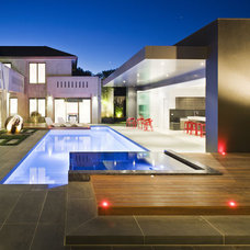 Contemporary Pool by JFM7860