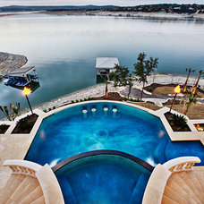 Contemporary Pool by Sterling Custom Homes