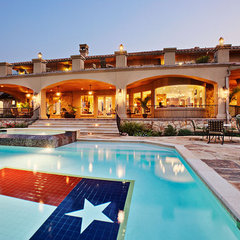 eclectic pool by Sterling Custom Homes