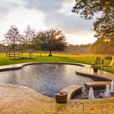 Farmhouse Pool by Josh Atkinson - Atkinson Aquatech Pools and Spas