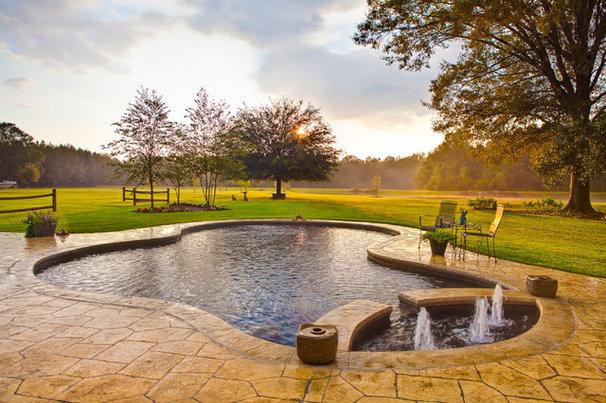 Farmhouse Pool by Josh Atkinson - Atkinson Aquatech Pools and Spas