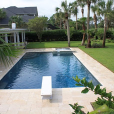 Beach Style Pool by Pools by John Clarkson